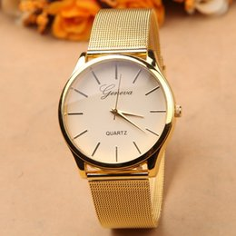 Wholesale Wholesale Watch Brand Name - Free DHL,Gold Watch Full Stainless Steel Woman Fashion Dress Watches New Brand Name Geneva Quartz Watch Best Quality G-8072.