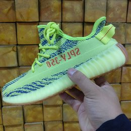 Wholesale Cheap Lace Fabric Online - (Double Boxes) SPLY 350 Boost 350 V2 Semi Frozen Yellow Belgua 2.0 Wholesale Discount Cheap Kanye West Online Shoes Basketball Running Shoes