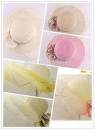 Wholesale Bud Net - Wholesale-Ms summer hollow out of bud silk net cap air big wedding hat along the sun sun hat
