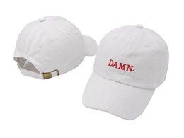 Wholesale Bones Trucker Baseball - DAMN Baseball Cap Duck Tongue Hat Red Color Outdoor Leisure Visor Hat Dad Hats Trucker Bone Kendrick Lamar Snapback