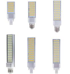 Wholesale E27 44 - G25 LED Horizontal Plug bulb 25 35 44 52 60 64 pcs SMD 5050 LED corn bulb 6W 7W 10W 12W 14W 15W warm cool white