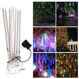 Wholesale waterproof led lights for showers - 40pcs(5sets) 20cm 30cm 50cm waterproof Meteor Shower Rain Tubes LED Light for Party Wedding Decoration Christmas Holiday LED Meteor Light
