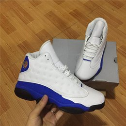 Wholesale Gs Sizes - 2018 New arrive 13 13s Hyper Royal GS Italy Blue olive men basketball shoes 13s mens sports Sneaker Athletics Shoes size 41-47