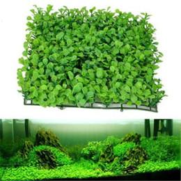 Wholesale fake plastic fish - 5PCs 25*25CM Green Artificial Plant Fish Tank Fake Water Grass Plants Aquarium ornament Landscape decoration plastic plant grass