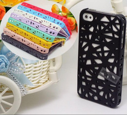 Wholesale Iphone 4s Nest Case - II-EEE-PP:New Arrival 1PCS 3D Hollow Bird Nest Snap Hard Back Cover Cell Phone Case For iPhone 4 iPhone 4S iPhone4 4S Shell&&PPP
