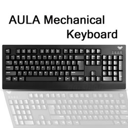Wholesale Aula Gaming - Wholesale-AULA mechanical keyboard Ghosts Zone 3 lol gaming keyboard shaft black shaft usb wired laptop keyboard Official authentic