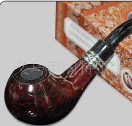 Wholesale Tobacco Series - FREE SHIPPING 10pcs lot high-grade changfeng GT-8017 Knight Series Carved Decoration Solid Wood Tobacco Pipe, smoking pipe Fashion gift pipe