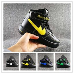 Wholesale Fast Drops - VLONE X Force 1 High Basketball Shoes Five Color Option Athletic Shoes Sports Boots for Men and Women 36-45 Drop Shipping Fast Delivery
