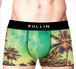 Wholesale Sexy Panties S - PULLIN Sexy Men Boxer Soft Breathable Underwear Male Comfortable Printed Panties Underpants Cueca Boxershorts Homme For Men PULL IN