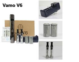 Wholesale Chrome Cigarette - Vamo V6 Kit Vamo V6 Mod Vamo v6 20w Wattage 3W-20W with LCD Display Electronic Cigarette Starter kit Chrome Black Stainless steel