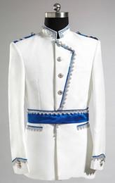 Wholesale Tailored Made Suits - 2015 -- New Design Groom Tuxedos Wedding Suit For Men Designers Tailored Prom Suit Boyfriend Blazer Bridegroom(Jacket+Pants)363