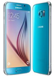 Wholesale Wholesale Cameras Phones - 100% Refurbished Original Samsung Galaxy S6 G920A G920T G920V G920P G920F Cell Phone Octa Core 3GB 32GB 16MP 5.1 inch 4G LTE