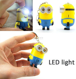 Wholesale Despicable Talking - Christmas gift Hot selling Despicable me 2 LED Keychain talk minions press button say I love you gift for lovers