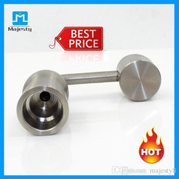 titanium oil bowl Promo Codes - Titanium Smoking Nail Female 14mm 18mm Universal Titanium Nails Bong Bowls For Smoking Glass Water Pipe Oil Rigs