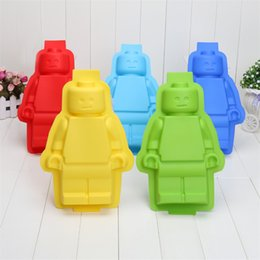 Wholesale Silicon Ice Mold - Big Robots Silicon Ice Cube Tray Cake Baking Moulds Soap Molds Silicone Ice Mold 300pcs