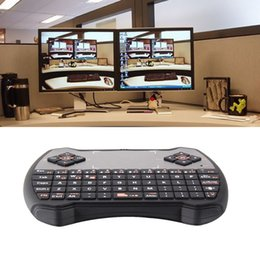 Wholesale Teclados Pc - Wholesale-Black V6 2.4Ghz Wireless Keyboard And Mouse Gaming Teclados Touchpad Air Mouse for PS3 PC TV teclado inalambrico P4PM