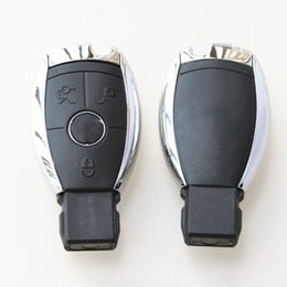 Wholesale Mercedes Key Case - High quality car key shell for Mercedes Benz 3 button remote key case smart key blank 5pcs lot free shipping