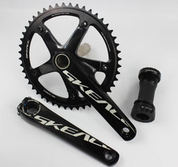 Wholesale Chain Wheel Crank - Wholesale-ultralight AL7075 classic SKE 48T fixed gear bike crankset road track bicycle chain wheel 144 BCD 165mm crank set with axis