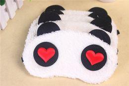 Wholesale Panda Sleeping - Lovely Panda Eye Mask Shade Cute Travel Rest Blindfold Cover Sleeping Eye Cartoon Mask Eyeshade Eyepatch