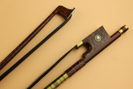 Wholesale Horse Hair Bow - Wholesale- 1pc Professional New Top SNAKEWOOD Violin bow 4 4 full size black horse hair Free Shipping