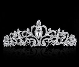 Argentina Cristales de cuentas brillantes de alta calidad coronas de la boda Velo nupcial Tiara corona diadema accesorios para el cabello partido boda tiara Suministro