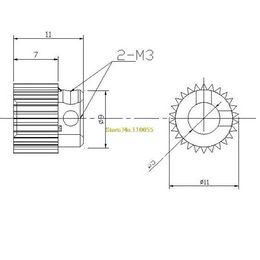 Wholesale Cheap Wholesale Printers - 20PCS LOT Extrusion Head Gear Inner Hole Diameter 5MM 3D Printer Accessories Free Shipping Printer Parts Cheap Printer Parts