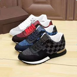 Wholesale Handmade Genuine Shoes - 2017New fashion luxury brand senior handmade men's leisure sports shoes Black and blue and white and red