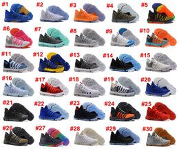 Wholesale Kd Basketball Shoes Blue - Newest 2017 Kevin Durant X KD 10 Oreo Still KD Anniversary Basketball Shoes Sneakers KD10 Men Shoes Sport sneakers 8-13