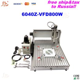 Wholesale Engraving Metal For Cnc - Already assembled Stone cutting machine 6040Z-VFD800W cnc engraving machine for nameplates ,mable,metal with 0.8KW VFD to Russia free tax