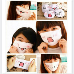 Wholesale Cute Mouth Masks - Wholesale-Cute Fashion&Trendy Anime Kaomoji Anti-Dust Face Mask Mouth-muffle Kawaii Anti-Dust Masks