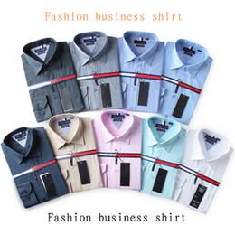 Wholesale Mens Regular Fit Dress Shirts - 2017 Brand Men's Business Casual shirt mens long sleeve striped slim fit camisa masculina social male shirts new fashion shirt #1122