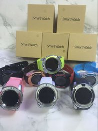 Wholesale Email Cellphone - V8 Smartwatch Bluetooth Wathces With 0.3M Camera SIM And TF Card Watch For Samsung Note 7 Cellphone IOS Iphone Smartphone With Box free DHL