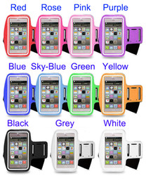 Wholesale Running Case Galaxy S3 - Wholesale Armband Case Pouch Nylon Running Gym Sport cover waterproof For iphone 6 Plus Samsung galaxy S5 S4 S3 Arm Band bag