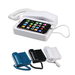 Wholesale Packaging Pop - Wholesale-AT-606TP Retro POP Phone Telephone Handset Landline Dock Stand Radiation-proof for iPhone 4S 4 3GS with Retail Package