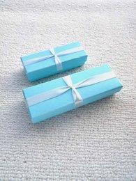 Wholesale Necklace Box Jewel - Retail Blue Jewel Gift Packge Box Necklace Wedding Gift Package Boxes Free Shipping