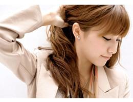 Wholesale Diamond Bow Studs - Women's stud earrings fashion earring 925 sterling silver cute crystal bow diamond ear rings