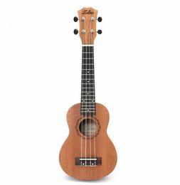 Hawaiianische gitarre online-21 Zoll 15 Bünde Mahagoni Sopran Ukulele Gitarre Uke Sapele Palisander 4 Saiten Hawaiian Guitar Musikinstrumente für Anfänger