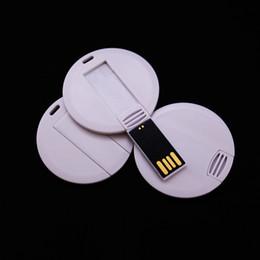 Paket 100 ADET 128 MB / 256 MB / 512 MB / 1 GB / 2 GB / 4 GB / 8 GB / 16 GB Yuvarlak Kart USB Sürücü 2.0 Bellek Flash Pendrive Logo Baskı için Boş Beyaz Takım S ... nereden usb flash baskı tedarikçiler