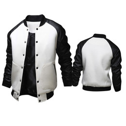 Wholesale letterman baseball - Fall-Mens Jackets and coats American Style Varsity Baseball Letterman College University Jacket Coat Outwear Men's Winter Jacket