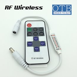 Wholesale Led Dimmer Mini Rf Wireless - Led Dimmer Mini Controller Wireless RF Remote Controller DC connect for Single Color 5050 3528 Strip Light use 11 keys DHL Free Shipping