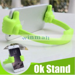 Wholesale Stand Man Iphone - Universal Lazy Man The thumb OK Stand Holder Clip Mount For iPad Mini iPhone 7 Plus Galaxy S8