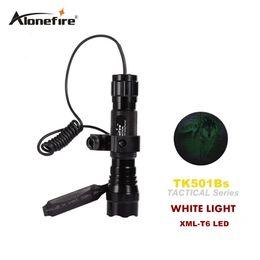 Wholesale Tactical Flashlight Remote Pressure Switch - 501B XML-T6 ED tactical Flashlight Torch 1 Mode Flash Light Lanterna lampe torche + Remote Pressure Switch & Gun Mount scope mounts
