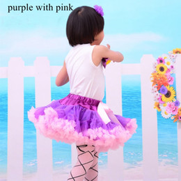 Wholesale Children Wearing Mini Skirts - Cute Mini Girl's Pageant Dresses Tutu Skirt For Toddlers Kids Formal Wear Party Dresses Colorful S-M Size Flower Girl Dress Children Tutu
