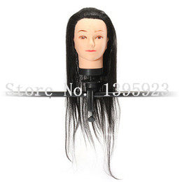 Wholesale Hairdressing Training Head Practice - Mannequin Head Synthetic Display Heads Hairdressing Human Hair Wig Mannequins with Clamp Practice Model Training