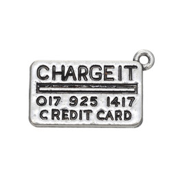 Wholesale Change Slide - Credit Card Engraved Change It Rectangle Charms Antique Silver Plated Charm DIY Necklace&Bracelet Jewelry Special style hot sell style