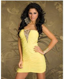 Wholesale Off Shoulder Nightgown - w1022 2014 New Design New Model V-neck Off Shoulder Backless Sexy dress Party Skirt Club Dress Europe Club Sex Lingerie Clubwear