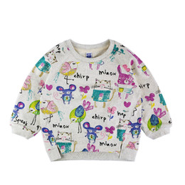 Wholesale Next Wholesale Kids Clothing - Wholesale- 2016 Next Spring Fall Girls tops Kids Hoodies Animals Graffiti Full sleeve Pretty Casual Chilrdren Clothing