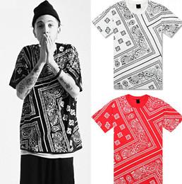 Wholesale Hip Hop Tassels T Shirt - KTZ Hip Hop T Shirt Red Bandana Shirt Women Mens Short Sleeve Loose Streetwear Plus Size 3XL 4XL 5XL Kanye West Justin Bieber
