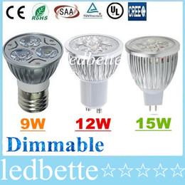 E27 E26 E14 B22 MR16 GU10 a mené les ampoules de tache de CREE chaud / Natrual / blanc froid de 9W 12W 15W lumières de Dimmable ? partir de fabricateur