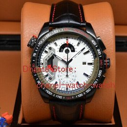 Wholesale Grand Calibre 36 Rs Black - Luxury Brand New Grand Calibre 36 RS White Dial Special Mens Quartz Watch Black PVD Men's Sports Wrist Watches Leather Strap.